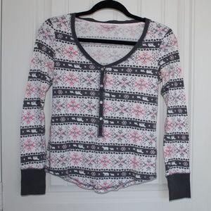 Victoria Secret Christmas Pijama top Size XS